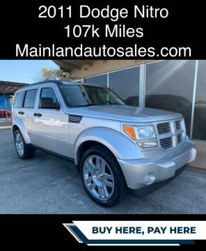 2011 Dodge Nitro for sale at Mainland Auto Sales Inc in Daytona Beach FL