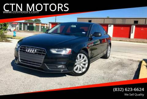 2013 Audi A4 for sale at CTN MOTORS in Houston TX