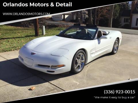 2000 Chevrolet Corvette for sale at Orlandos Motors & Detail in Winston Salem NC