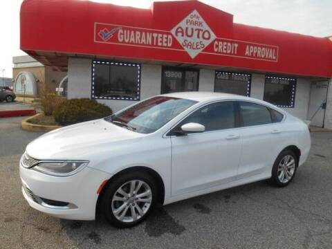 2015 Chrysler 200 for sale at Oak Park Auto Sales in Oak Park MI