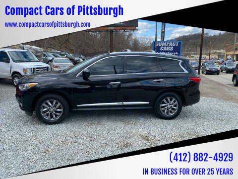 2013 Infiniti JX35 for sale at Compact Cars of Pittsburgh in Pittsburgh PA