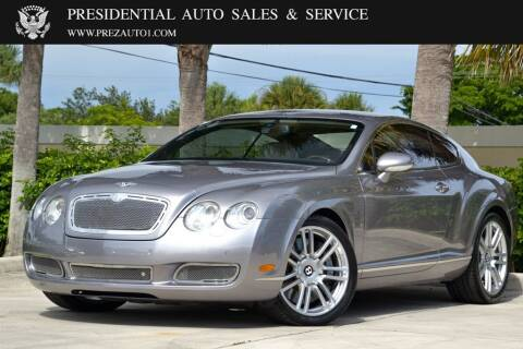 2007 Bentley Continental for sale at Presidential Auto  Sales & Service in Delray Beach FL