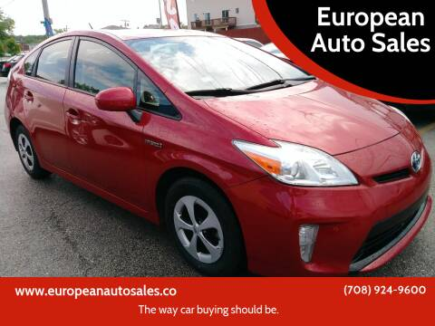 2012 Toyota Prius for sale at European Auto Sales in Bridgeview IL
