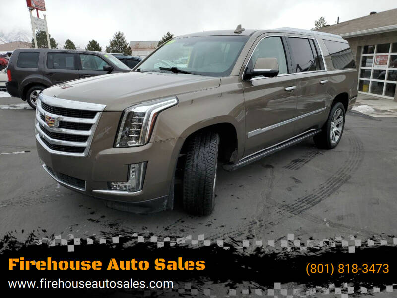 2016 Cadillac Escalade ESV for sale at Firehouse Auto Sales in Springville UT
