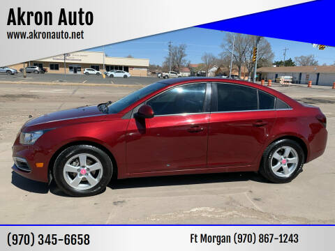2016 Chevrolet Cruze Limited for sale at Akron Auto - Fort Morgan in Fort Morgan CO