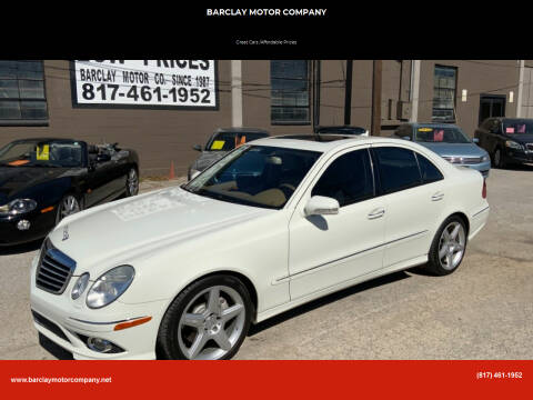 2009 Mercedes-Benz E-Class for sale at BARCLAY MOTOR COMPANY in Arlington TX
