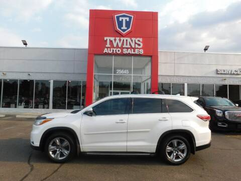 2016 Toyota Highlander for sale at Twins Auto Sales Inc in Detroit MI