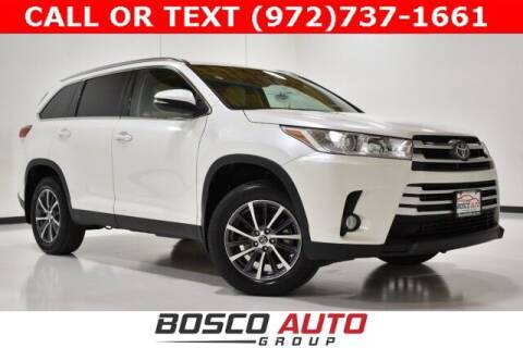 2019 Toyota Highlander for sale at Bosco Auto Group in Flower Mound TX