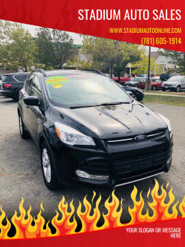 2015 Ford Escape for sale at Stadium Auto Sales in Everett MA