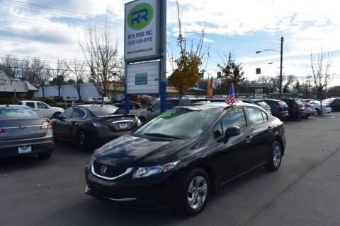 2013 Honda Civic for sale at Rite Ride Inc in Murfreesboro TN
