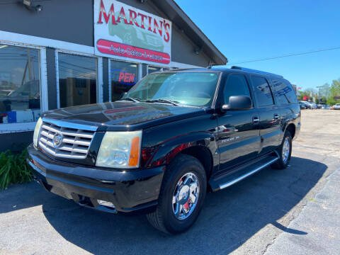 2004 Cadillac Escalade ESV for sale at Martins Auto Sales in Shelbyville KY