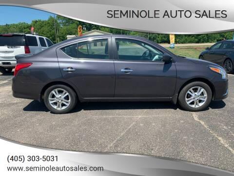 2015 Nissan Versa for sale at Seminole Auto Sales in Seminole OK