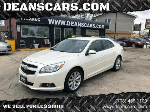 2013 Chevrolet Malibu for sale at DEANSCARS.COM in Bridgeview IL