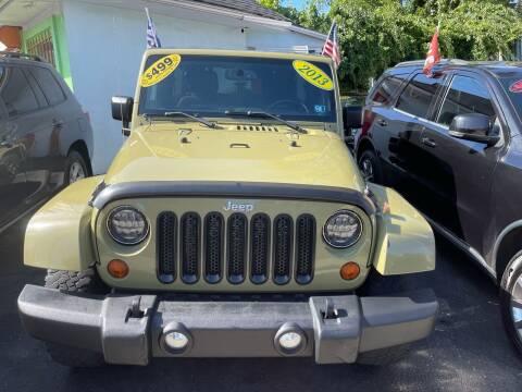 2013 Jeep Wrangler Unlimited for sale at Best Cars R Us LLC in Irvington NJ