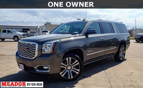 2018 GMC Yukon XL for sale at Meador Dodge Chrysler Jeep RAM in Fort Worth TX