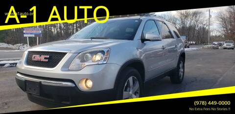 2010 GMC Acadia for sale at A-1 Auto in Pepperell MA