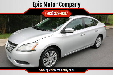 2013 Nissan Sentra for sale at Epic Motor Company in Chantilly VA