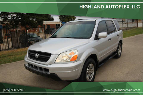 2005 Honda Pilot for sale at Highland Autoplex, LLC in Dallas TX
