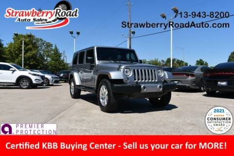 2017 Jeep Wrangler Unlimited for sale at Strawberry Road Auto Sales in Pasadena TX