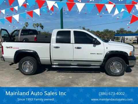 2004 Dodge Ram Pickup 1500 for sale at Mainland Auto Sales Inc in Daytona Beach FL