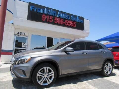 2015 Mercedes-Benz GLA for sale at Franklin Auto Sales in El Paso TX