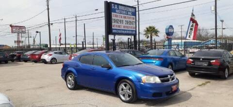 2013 Dodge Avenger for sale at S.A. BROADWAY MOTORS INC in San Antonio TX