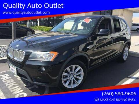 2013 BMW X3 for sale at Quality Auto Outlet in Vista CA