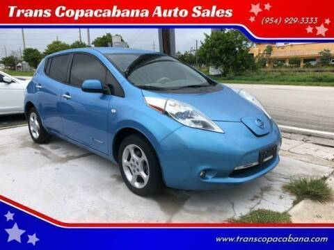 2012 Nissan LEAF for sale at Trans Copacabana Auto Sales in Hollywood FL