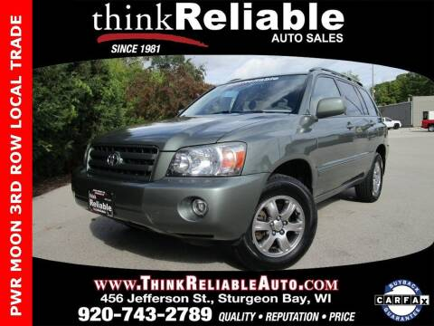 2007 Toyota Highlander for sale at RELIABLE AUTOMOBILE SALES, INC in Sturgeon Bay WI