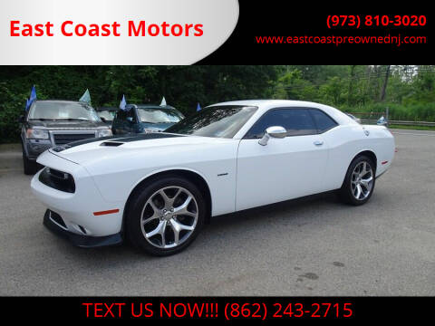 2015 Dodge Challenger for sale at East Coast Motors in Lake Hopatcong NJ