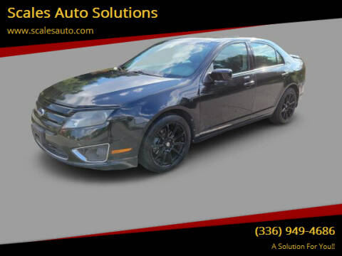 2010 Ford Fusion for sale at Scales Auto Solutions in Madison NC