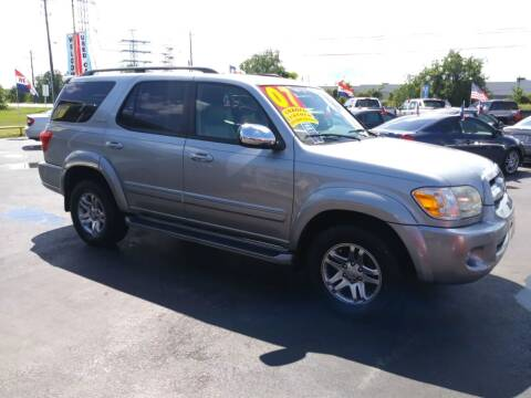 2007 Toyota Sequoia for sale at Texas 1 Auto Finance in Kemah TX