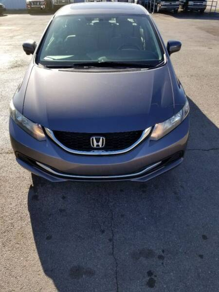 2015 Honda Civic for sale at A & G Auto Sales in Lawton OK
