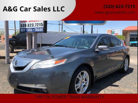 2009 Acura TL for sale at A&G Car Sales  LLC in Tucson AZ