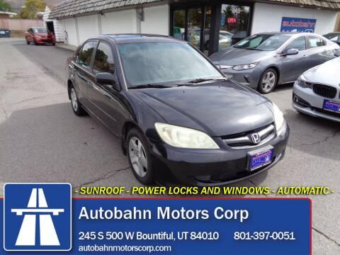 2004 Honda Civic for sale at Autobahn Motors Corp in Bountiful UT