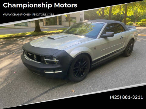 2007 Ford Mustang for sale at Championship Motors in Redmond WA
