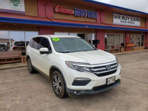 2017 Honda Pilot for sale at Ohana Motors in Lihue HI