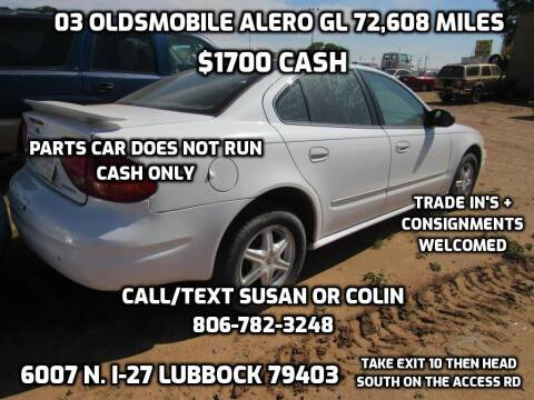 2003 Oldsmobile Alero for sale at West Texas Consignment in Lubbock TX