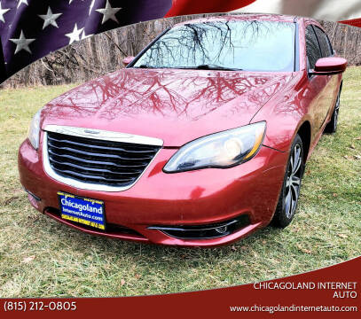 2014 Chrysler 200 for sale at Chicagoland Internet Auto - 410 N Vine St New Lenox IL, 60451 in New Lenox IL