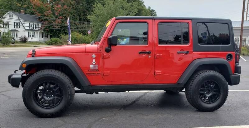 2015 Jeep Wrangler Unlimited for sale at Healey Auto in Rochester NH
