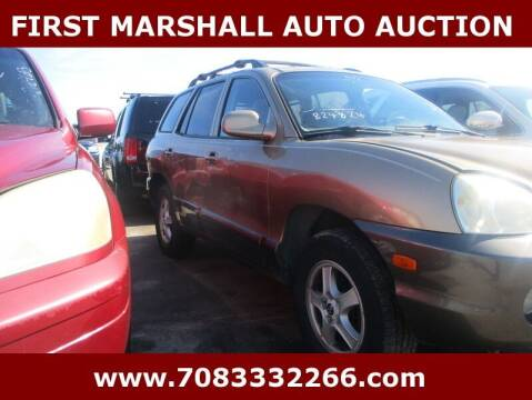 2004 Hyundai Santa Fe for sale at First Marshall Auto Auction in Harvey IL