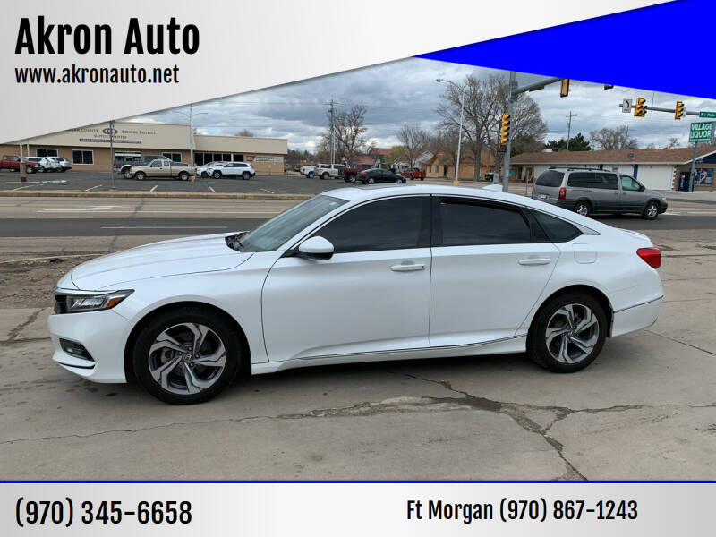 2018 Honda Accord for sale at Akron Auto - Fort Morgan in Fort Morgan CO