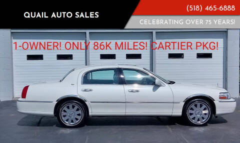 2003 Lincoln Town Car for sale at Quail Auto Sales in Albany NY