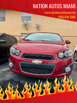 2014 Chevrolet Sonic for sale at Nation Autos Miami in Hialeah FL