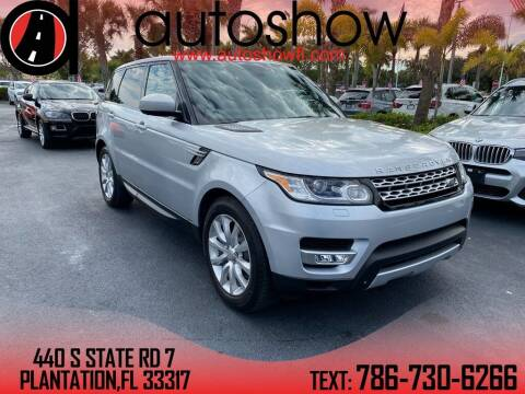 2015 Land Rover Range Rover Sport for sale at AUTOSHOW SALES & SERVICE in Plantation FL