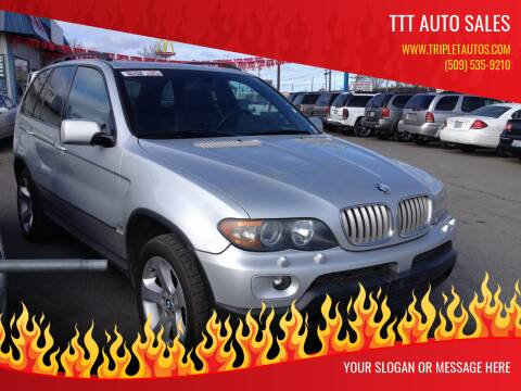 2005 BMW X5 for sale at TTT Auto Sales in Spokane WA