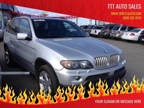 2005 BMW X5 for sale at TTT Auto Sales in Spokane WA