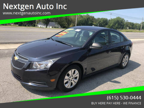 2014 Chevrolet Cruze for sale at Nextgen Auto Inc in Smithville TN