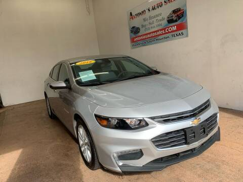 2018 Chevrolet Malibu for sale at Antonio's Auto Sales - Antonio`s  3001 in Pasadena TX