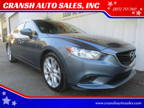 2015 Mazda MAZDA6 for sale at CRANSH AUTO SALES, INC in Arlington TX